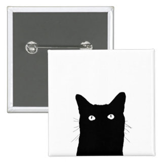 I See Cat Click to Select Your Color Background 2 Inch Square Button