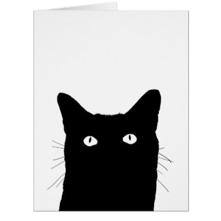 I See Cat Click to Select Your Color Background Large Greeting Card
