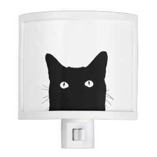I See Cat Click to Select Your Color Background Night Lite