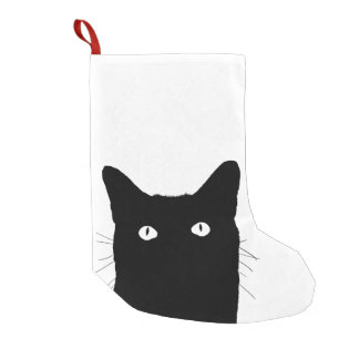 I See Cat Click to Select Your Color Background Small Christmas Stocking