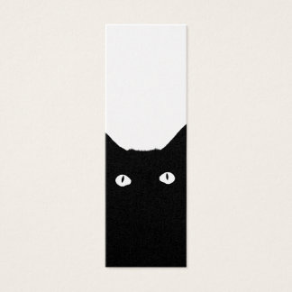 I See Cat Click to Select Your Color Background Mini Business Card