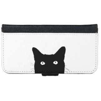 I See Cat Click to Select Your Color Background iPhone 6 Wallet Case