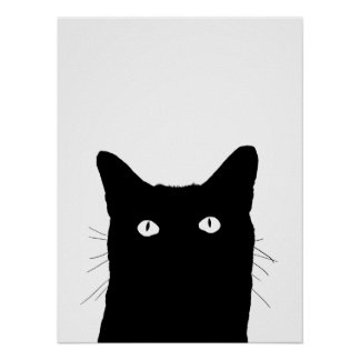 I See Cat Click to Select Your Color Background Poster