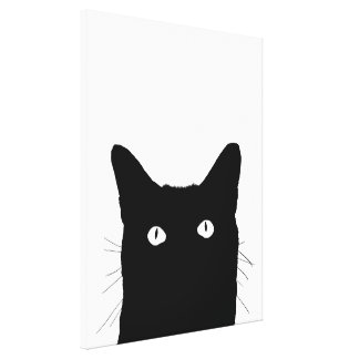 I See Cat Click to Select Your Color Decor Canvas Print