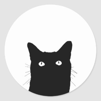 I See Cat Click to Select Your Color Decor Option Classic Round Sticker