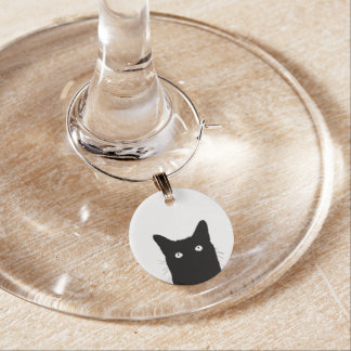 I See Cat Click to Select Your Color Decor Option Wine Glass Charm