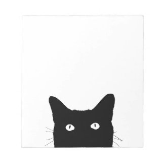 I See Cat Click to Select Your Colorful Decor Notepad