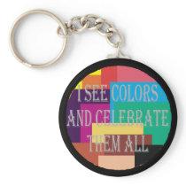 I See Colors Keychain