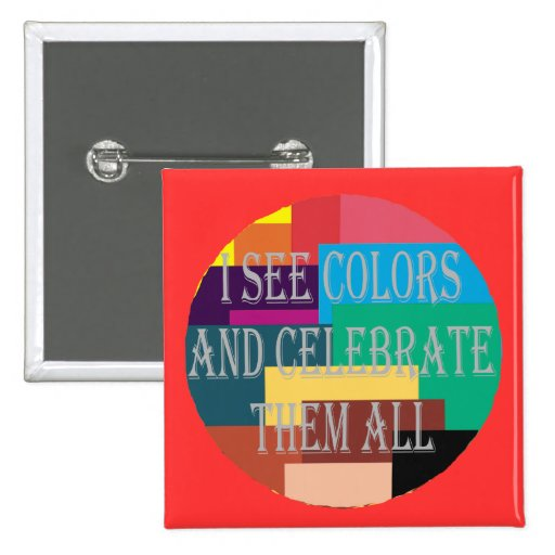 I See Colors (Not Colorblind) Square Button