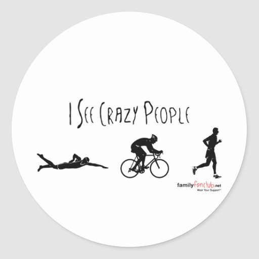 I See Crazy People Classic Round Sticker
