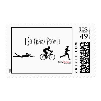 I See Crazy People Postage Stamp