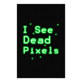 I See Dead Pixels Customized Stationery