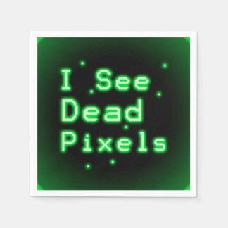 I See Dead Pixels Paper Napkin