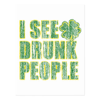 I see Drunken People Postcard