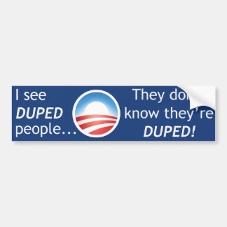 I See Duped People Bumper Sticker