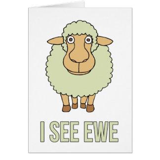 I See Ewe Greeting Card