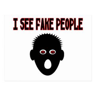 I See Fake People Postcard