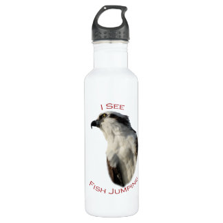 I See Fish Jumping Stainless Steel Water Bottle