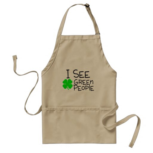 I See Green People Aprons