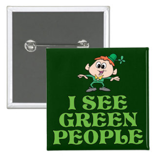 I See Green People Pinback Buttons
