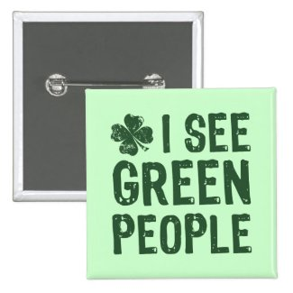 I See Green People Buttons