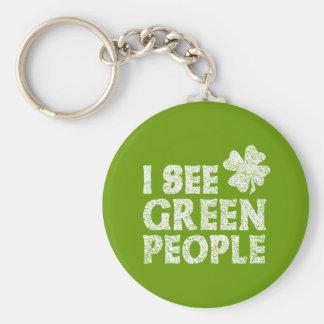 I See Green People Keychain