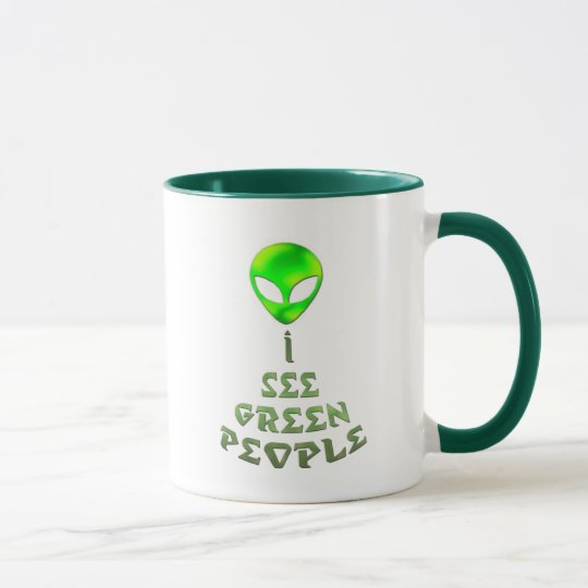 I See Green People Mug