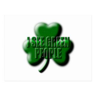 I See Green People Postcard