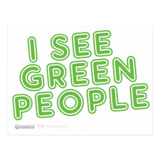 I See Green People - St Patricks Day Irish Ghost Postcard