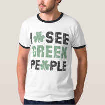 I See Green People St Patrick's T Shirt