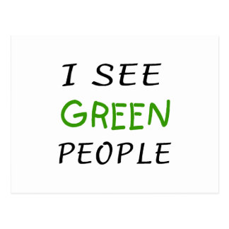 I See Green People St Pattys Day Postcard