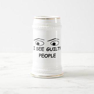 I see guilty people 18 oz beer stein