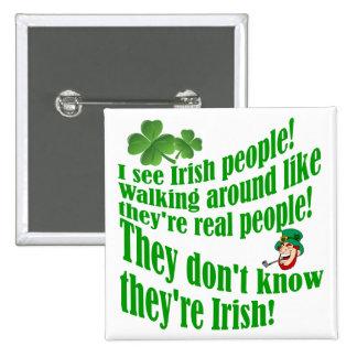 I see Irish people! Button