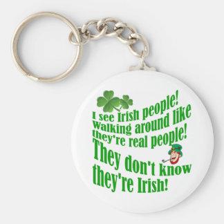 I see Irish people! Keychain