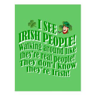 I see Irish people Postcard