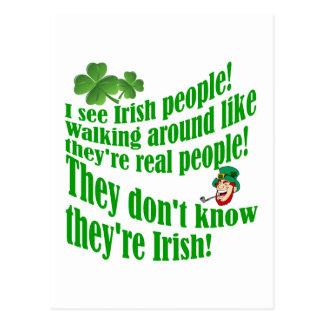 I see Irish people! Postcard