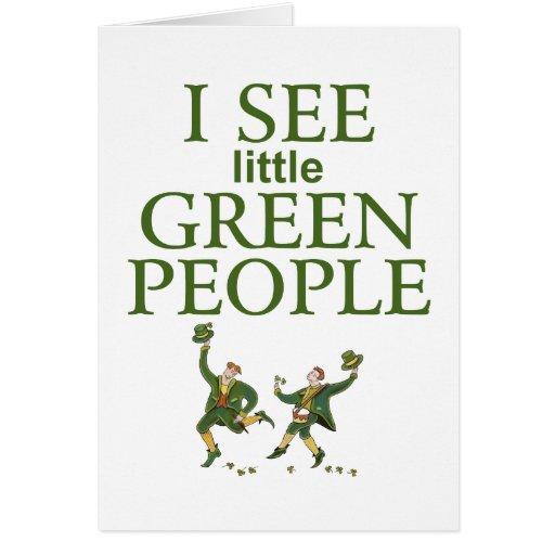 I See little Green People Irish card