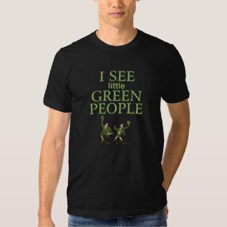 I See little Green People Irish shirt