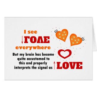 I see love everywhere card