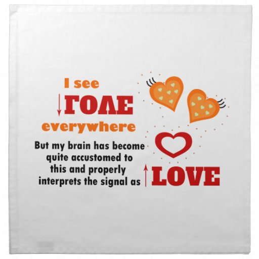 I see love everywhere cloth napkin
