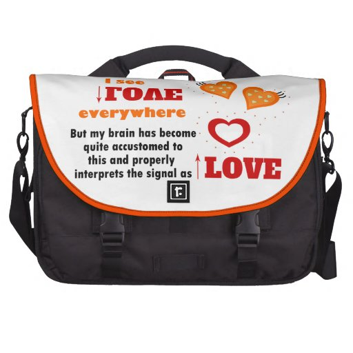 I see love everywhere laptop commuter bag