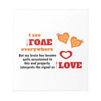 I see love everywhere notepad