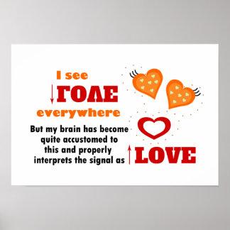 I see love everywhere print