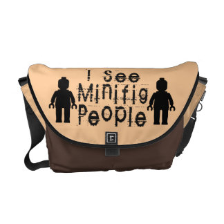 'I See Minifig People' by Customize My Minifig Messenger Bag