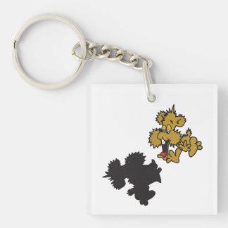 I See My Shadow Single-Sided Square Acrylic Keychain