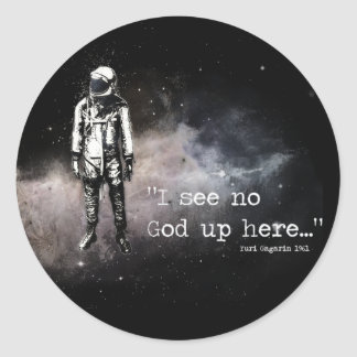 I see no god up here stickers