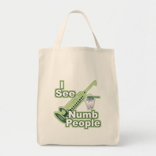 I See Numb People Canvas Bags