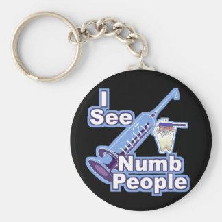 I See Numb People Keychain