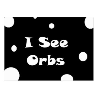 I See Orbs-business cards Large Business Cards (Pack Of 100)