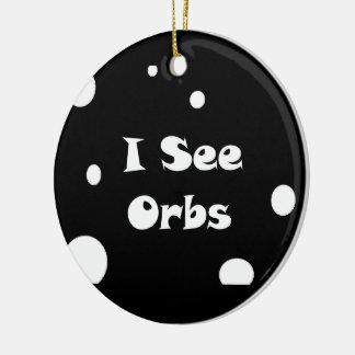 I See Orbs-circle ornament